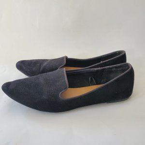 Seychelles Flats Loafers 10 M Slip On Black Pointy